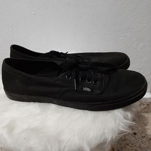 Vans Black Low Top Canvas Sneakers Men's Size 8